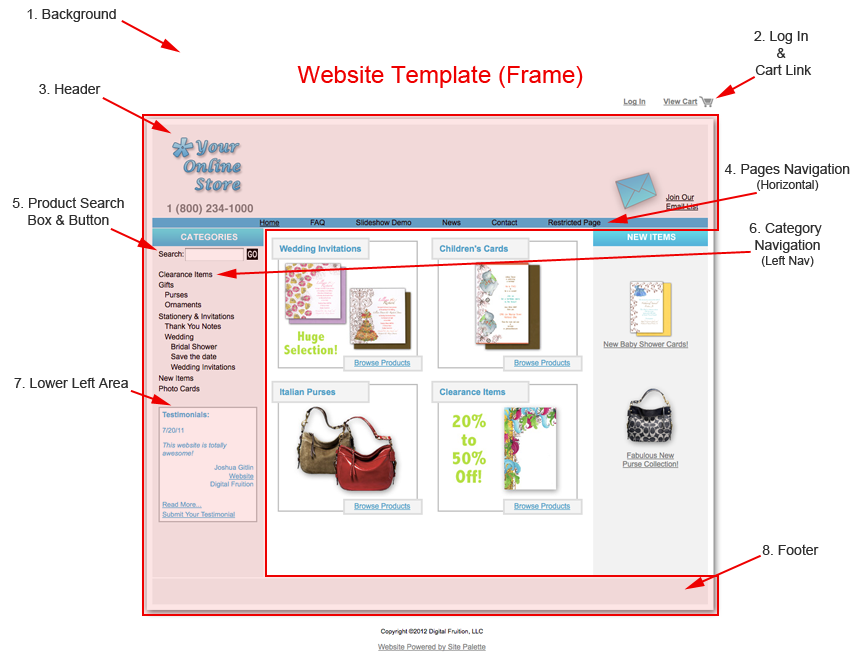 Website Template Design Integration